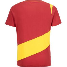 La Sportiva Slab T-shirt Herre cardinal red/lemonade